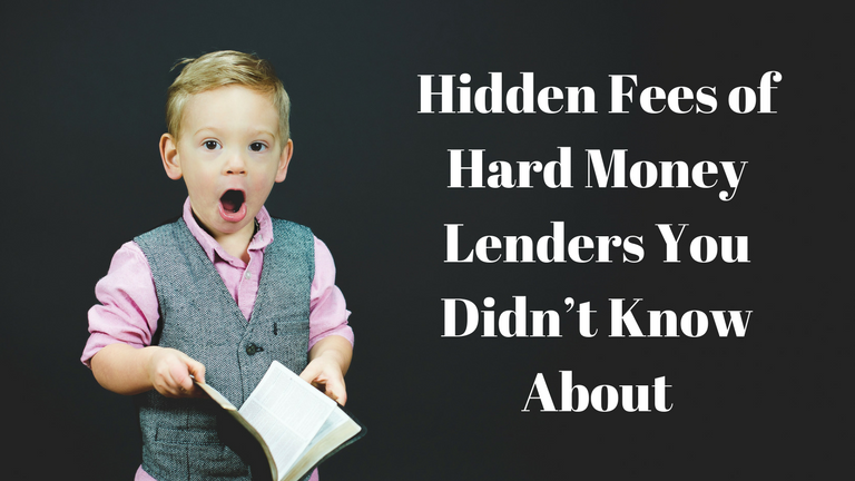 Hard Money Lender Fees